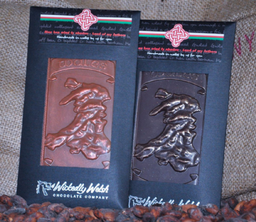 Wickedly Welsh Chocolate Bar - Welsh Map Dark Chocolate